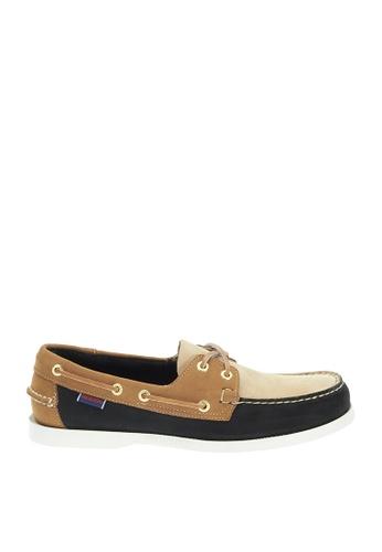 Sebago black Mens Spinnaker Boat Shoes SE328SH57QIGPH_1