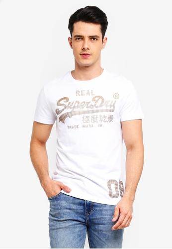 Superdry 白色 復古LOGO短袖印花T恤 5E636AADB7DC62GS_1