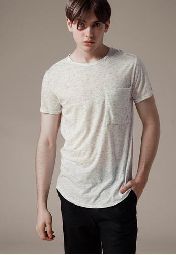 Life8 white Mens Casual Cooling U-Neck Tee T-Shirt Top-03859-White LI283AA0FT50SG_1