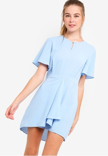 Something Borrowed blue Flare Sleeves Fit And Flare Dress C0F79AA5914C4CGS_1