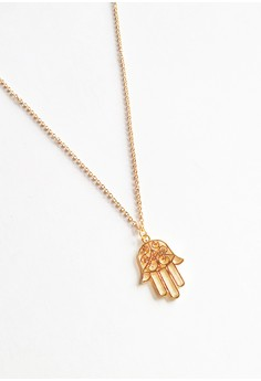 Intricate Hamsa Necklace - GOLD