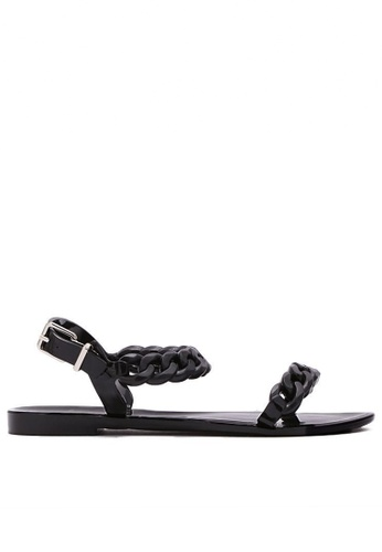 Twenty Eight Shoes black Jelly Chain Sandal TW446SH41IIGHK_1