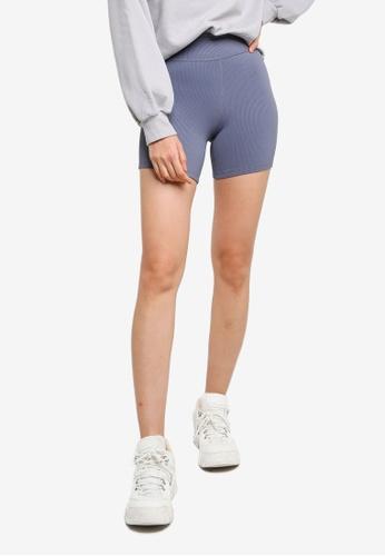 ABERCROMBIE & FITCH blue Seamless Bike Shorts EC7D1AA5AC0D35GS_1