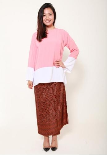 Naphthys Collection black and brown Batik Skirt/Sarong 486A9AA22706E8GS_1