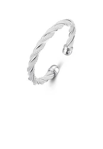 Glamorousky silver Simple and Fashion Geometric Twisted Rope Bangle 0932BACD4390BEGS_1