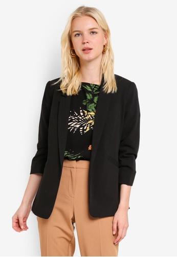 d9044ff77e7ef Buy Dorothy Perkins Black Ruched Sleeve Jacket Online on ZALORA ...