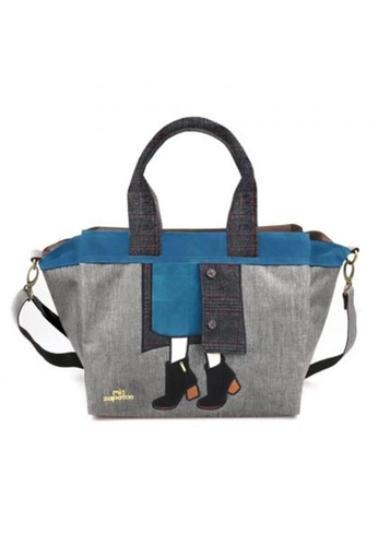 mis zapatos Mis Zapatos ZAP-B6921-GY 2-way function: Sling Bag and Hand Carry 1C784AC786940CGS_1