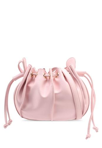 Velvet pink Small Bucket Bag 9A0E7AC124D3A9GS_1