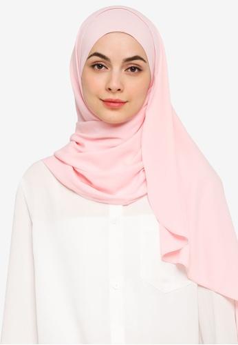 UMMA pink Nawar Basic Scarf in Juliet Pink 08332AA21A1D22GS_1