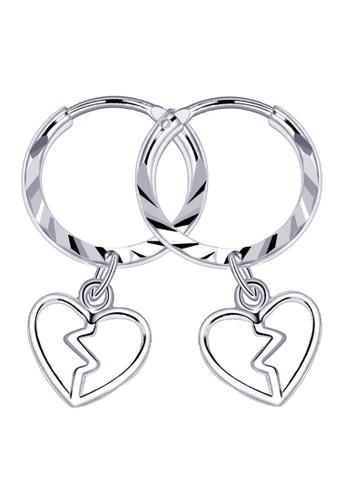 SC Tom Silver silver Broken Heart Loop Dangling Earring-ELC029W14 SC872AC11DIEPH_1