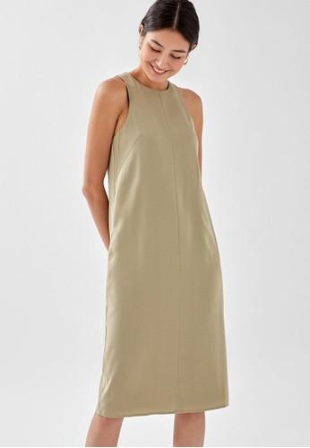 Love, Bonito green Marcella Relaxed Midi Dress DE13EAA85F6E96GS_1