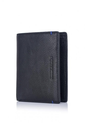 ENZODESIGN black and blue and multi Ultra Soft Cow Leather Vertical Billfold Wallet EN115AC0J99CPH_1