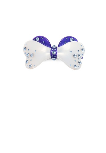 Glamorousky blue Fashion Simple Blue Ribbon Hair Slide with Cubic Zirconia 01272AC85F690DGS_1