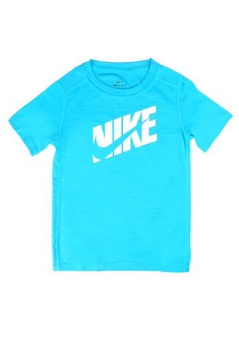 Nike blue Boys' Short-Sleeve Training Top 8D313KA288C7C4GS_1