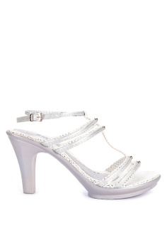 22fda84139ed Huxley silver Yanet Ankle Strap High Heels 36AECSH1D81E90GS 1