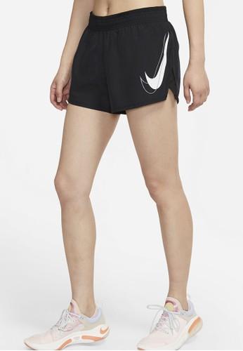 Nike black Women's Dri-FIT Swoosh Run Running Shorts 92D63AAAA119E1GS_1