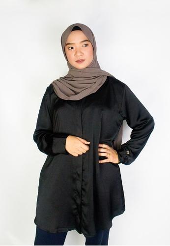 Zaryluq black Tunic Top in Sable 4AA65AA952892CGS_1