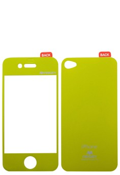 Color Mirror Film iPhone 4/4S [Lime Green]