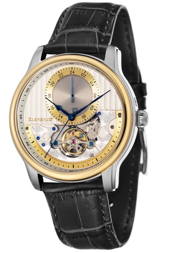 Thomas Earnshaw black Thomas Earnshaw Men's Genuine Leather Strap Watch - ES-8085-06 76D40ACDED7E7EGS_1