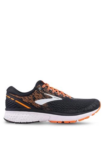 Brooks black and multi Men's Ghost 11 Shoes C09C6SHFA24833GS_1