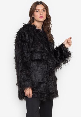Lady N black Faux Fur Coat 29B69AAA84E0DCGS_1