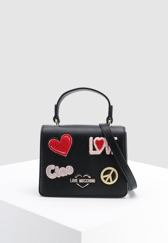 Shop Love Moschino Sling Bag With Decorative Patches Online on ZALORA  Philippines 269df2b1990e