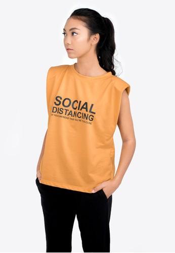 Isla yellow SOCIAL DISTANCING SLEEVELESS TOP DF2B4AA65E76BCGS_1