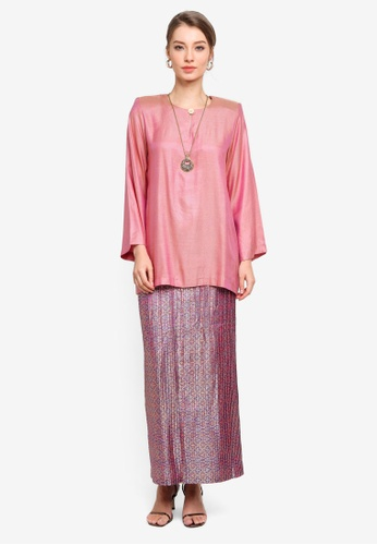 Yans Creation pink Naila Kurung Kedah Pleated 86681AAFF4ED73GS_1