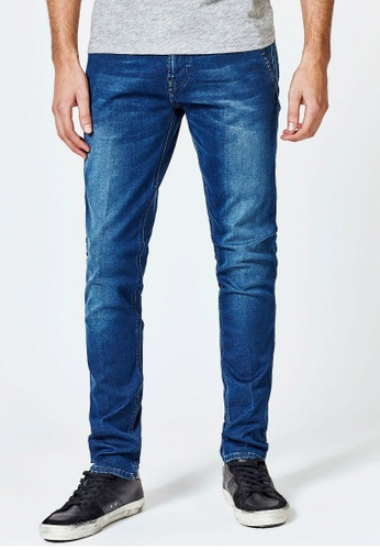 Guess blue Guess Adam Slim Tapered Jeans 30758AA190AF86GS_1