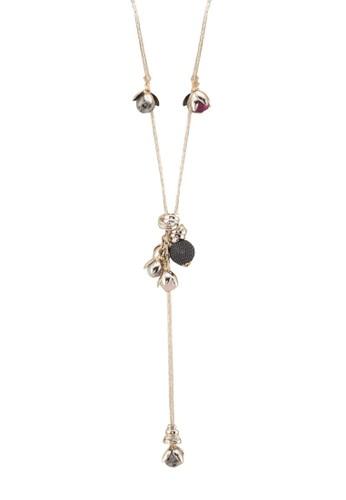韓風泡泡飾長項鍊zalora 手錶, 飾品配件, 項鍊