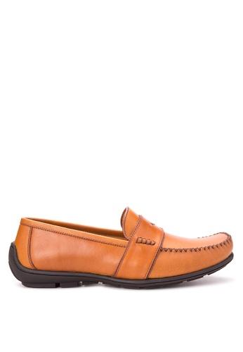 Bristol Shoes brown Hudson Tan Driving Shoes BR842SH54KCVPH_1
