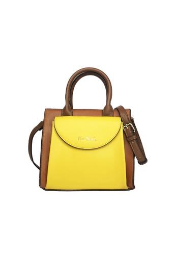 Pierre Cardin yellow Pierre Cardin Premium Small Top Handle Bag 10747AC204FC97GS_1