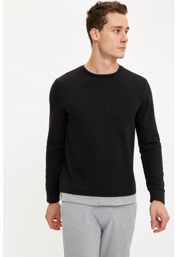 DeFacto black Man Knitted Sweat Shirt 73AFDAA00542B3GS_1