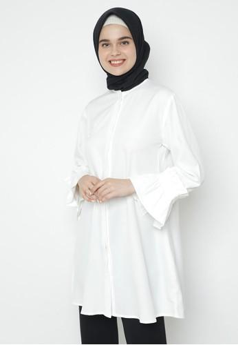 duapola white duapola Remple Sleeves Tunik 67CBEAA5A95F09GS_1