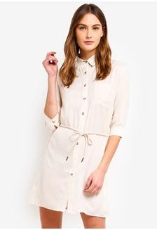 8003f92ace MISSGUIDED One Shoulder Midi Dress S  52.90 · Basic Contrast Self Tie Shirt Dress  ZALORA ...