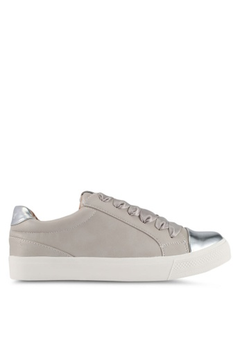ONLY grey Skye Toe Cap Sneakers 2BD07SHB980244GS_1