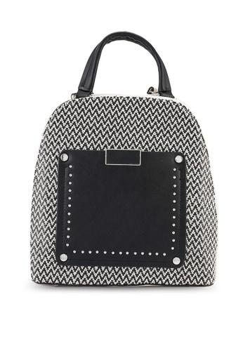 Keddo black and white Rosine Backpack 3B7A1AC543830BGS_1