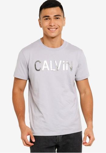 Calvin Klein grey Calvin Embroidery Tee - CK Jeans D1CEEAA4ECB90DGS_1