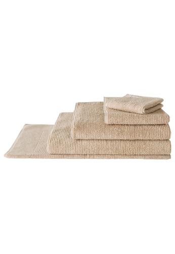 Sheridan brown Living Textures Pumice Bath Towel (1 piece) B05ECHLE80C9E0GS_1
