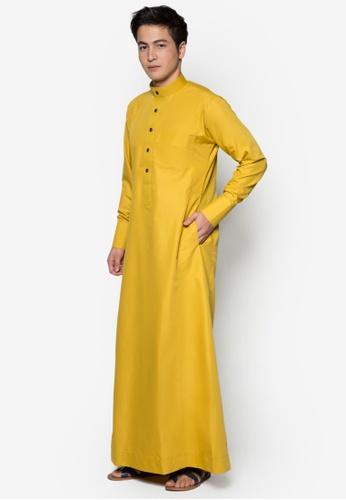 Amar Amran yellow Jubah A Slim Fit 603E6AA1C1934AGS_1