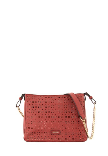 SEMBONIA red SEMBONIA Synthetic Leather Satchel Bag (Red) SE598AC0T0B9MY_1