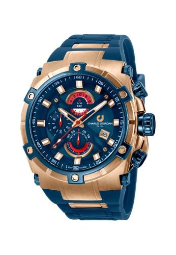 Charles Jourdan blue Charles Jourdan Men Watch Chronograph CJ1022-1582C C69E0AC4EF77A8GS_1