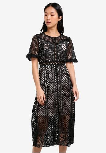 True Decadence black Crochet Lace Dress TR715AA0S2YLMY_1