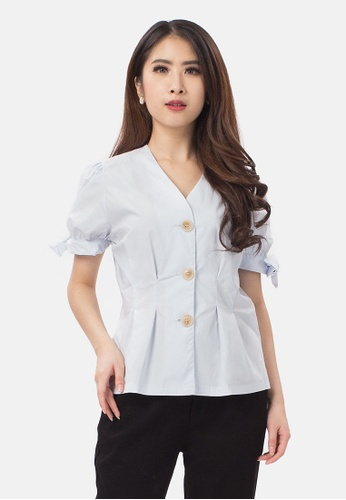 MKY Clothing MKY Tied Up Sleeve Blouse C4681AAE665C03GS_1