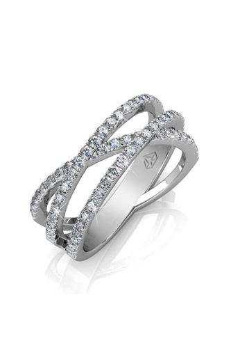 e6c0a128c6e Her Jewellery silver Her Jewellery Kristine Ring Embellished With Crystals  From Swarovski HE581AC0RD8LMY 1