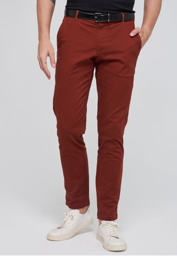 Sisley brown Slim Fit Vintage Look Trousers B533EAA5ACB458GS_1