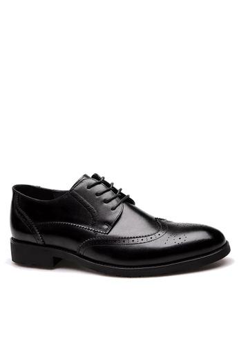 Twenty Eight Shoes 黑色 拷花真皮商務鞋 VMF36001 6D98ESHCB7A19AGS_1