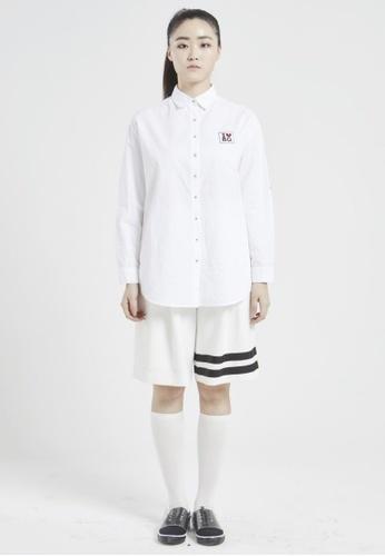 NINETEENEIGHTY white Wappen Point Basic Shirt NI195AA20XBVSG_1