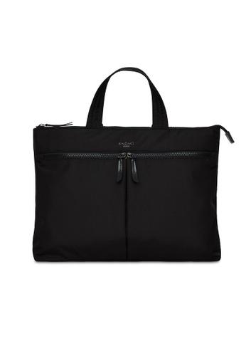 """knomo black Copenhagen 14"""" Briefcase (Black) 2D145AC9B6A8B0GS_1"""