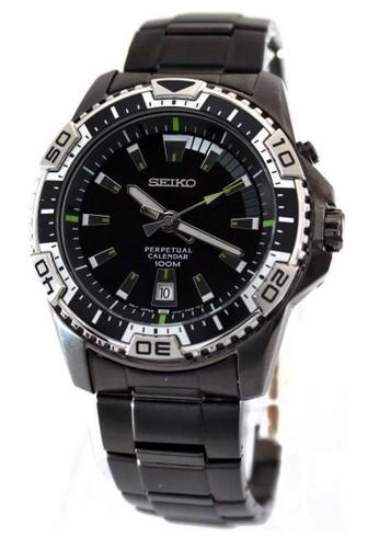 Seiko black Jam Tangan Pria Seiko Criteria Original Garansi Resmi Strap Stainless Steel Black SNQ115 SNQ115P1 B688FAC1554210GS_1
